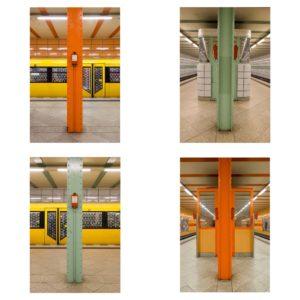 (Berlin 2017) - Berlin U5 I - 4x 50 x 75 cm - Edition: - www.wassily-kazimirski.com